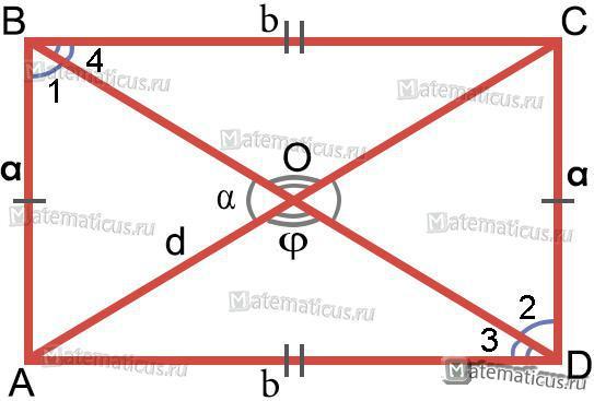 Прямоугольник диагонали