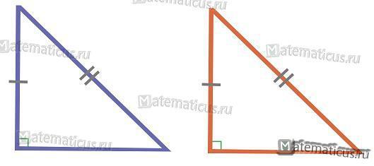 Подобие прямоугольного треугольника по гипотенузе и катету
