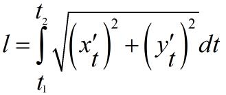 формула длина дуги для параметрического уравнения