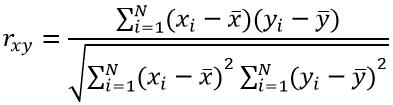коэффициент корреляции формула