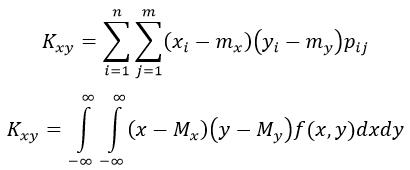 Корреляционный момент формула