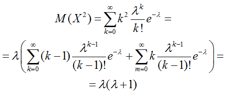 Дисперсия формула