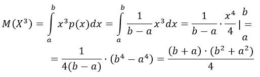 математическое ожидание равномерное распределение решение примера