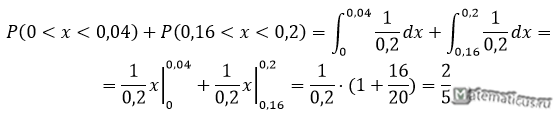 найти вероятность равномерное распределение пример