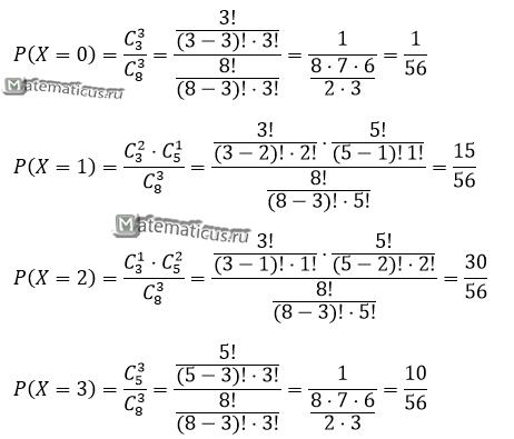 Закон распределения дискретной случайной величины решение