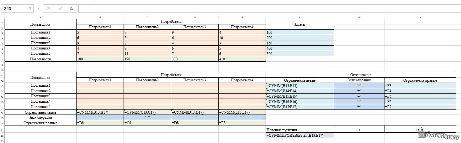Excel формулы