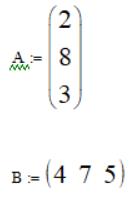 Матрица столбец и матрица строка