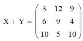 Сложение матриц Mathcad