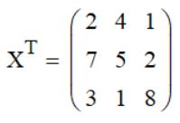 Транспонирование матрицы Mathcad