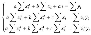 Уравнение регрессии полинома формула