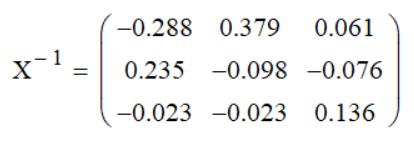 Вычисление обратной матрицы Mathcad