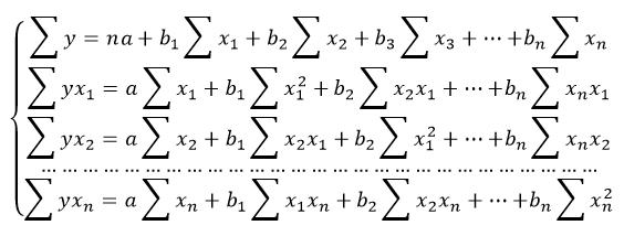уравнение модели линейной множественной регрессии