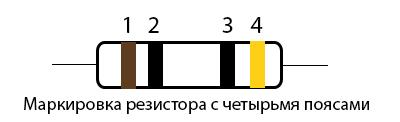 Маркировка резистора 10 Ом