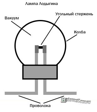 схема лампы лодыгина
