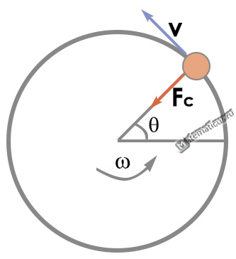 Direction of the centripetal force on a circle
