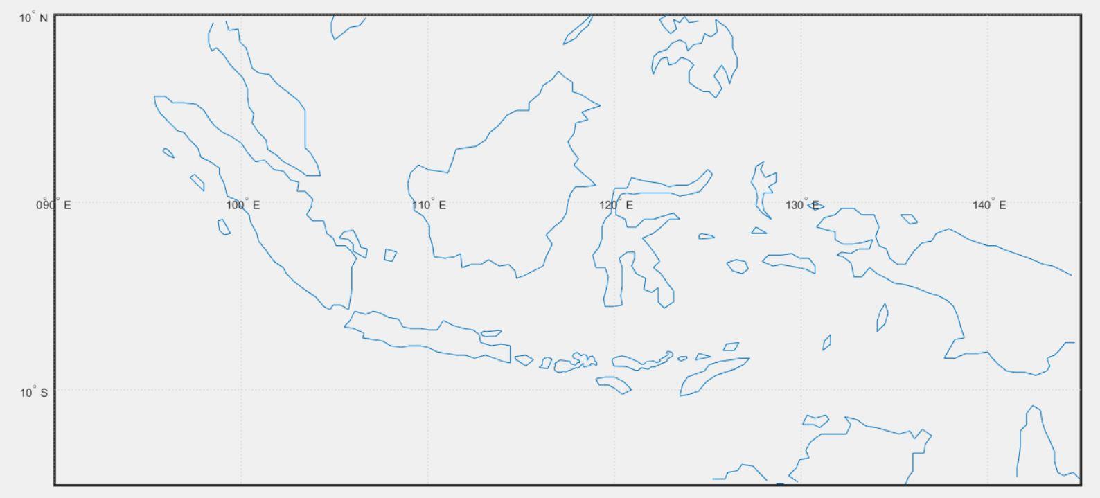Карта Индонезии в Matlab