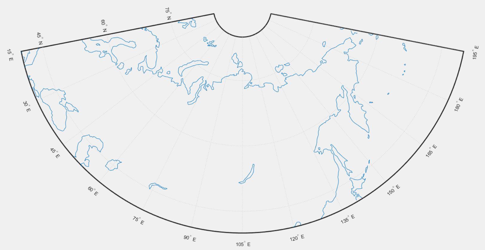 Карта России в Matlab