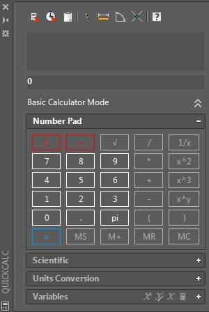 калькулятор AUTOCAD