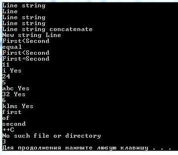 Библиотека STL String C++