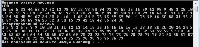 C++Алгоритм сортировки слиянием