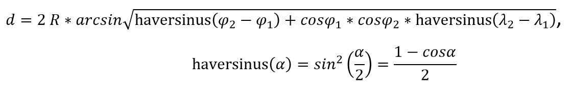 Формула Гаверсинуса