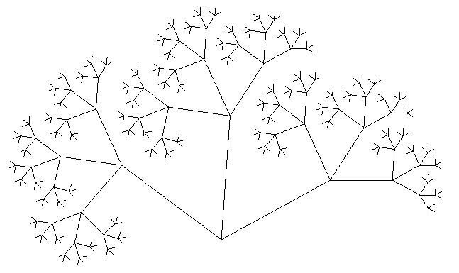 Дерево Пифагора четвертый уровень