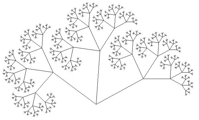 Дерево Пифагора пятый уровень
