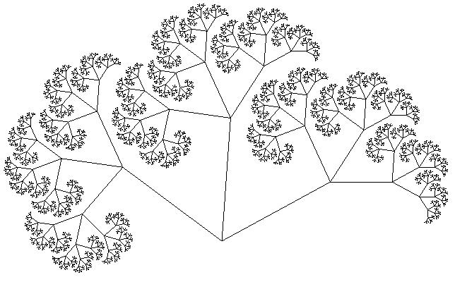 Дерево Пифагора седьмой уровень
