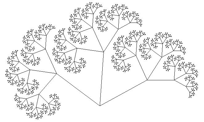 Дерево Пифагора шестой уровень