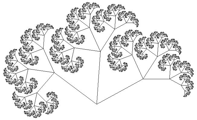 Дерево Пифагора восьмой уровень