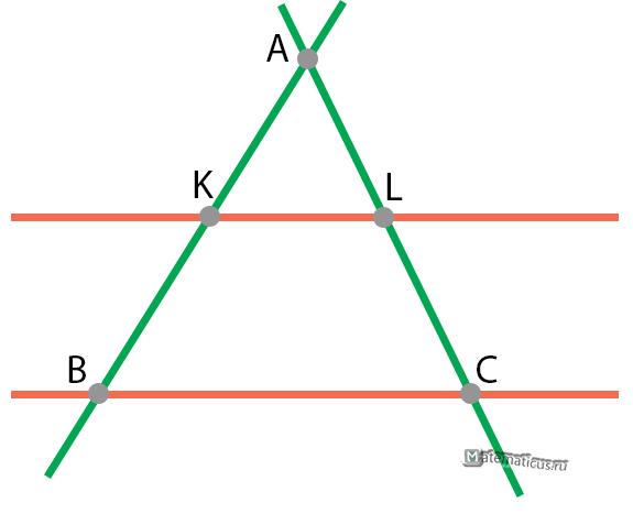Теорема Фалеса пример