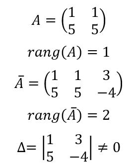 Теорема Кронекера-Капелли пример с решением