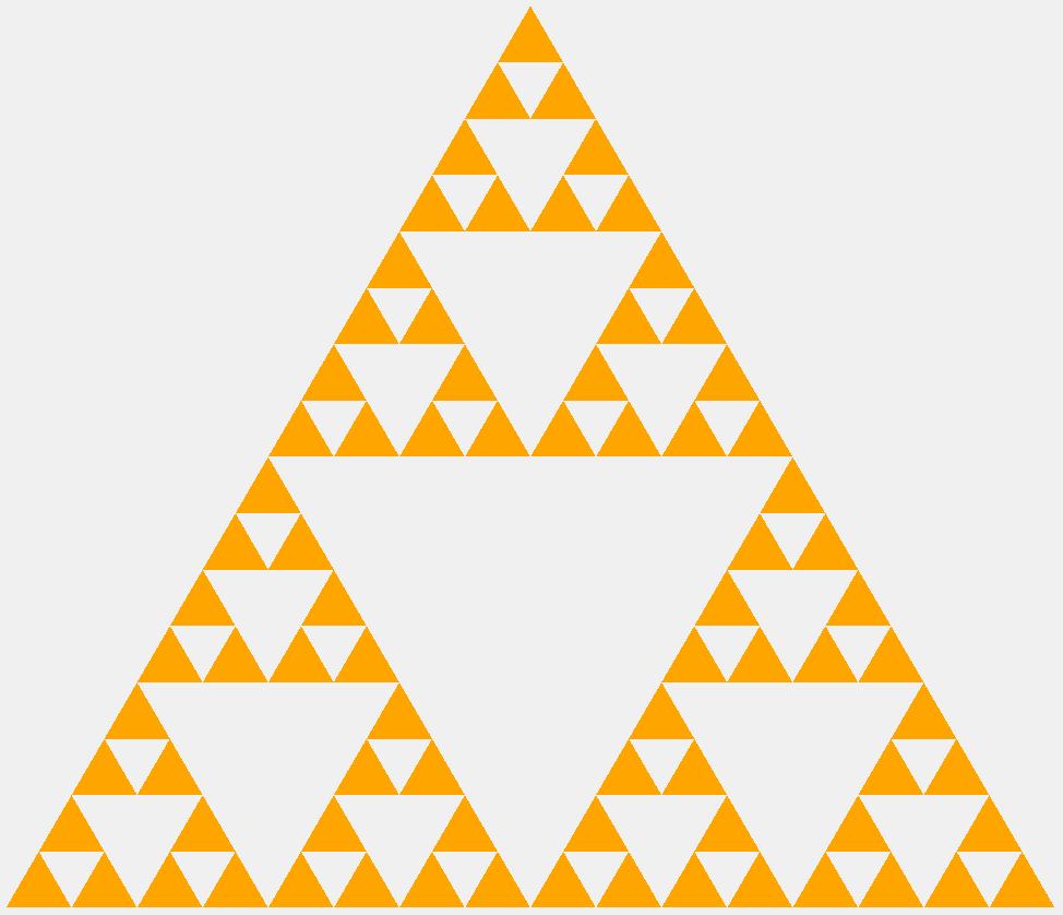 Треугольник Серпинского четвертого порядка