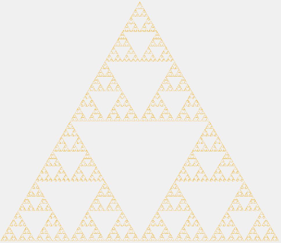 Треугольник Серпинского десятого порядка