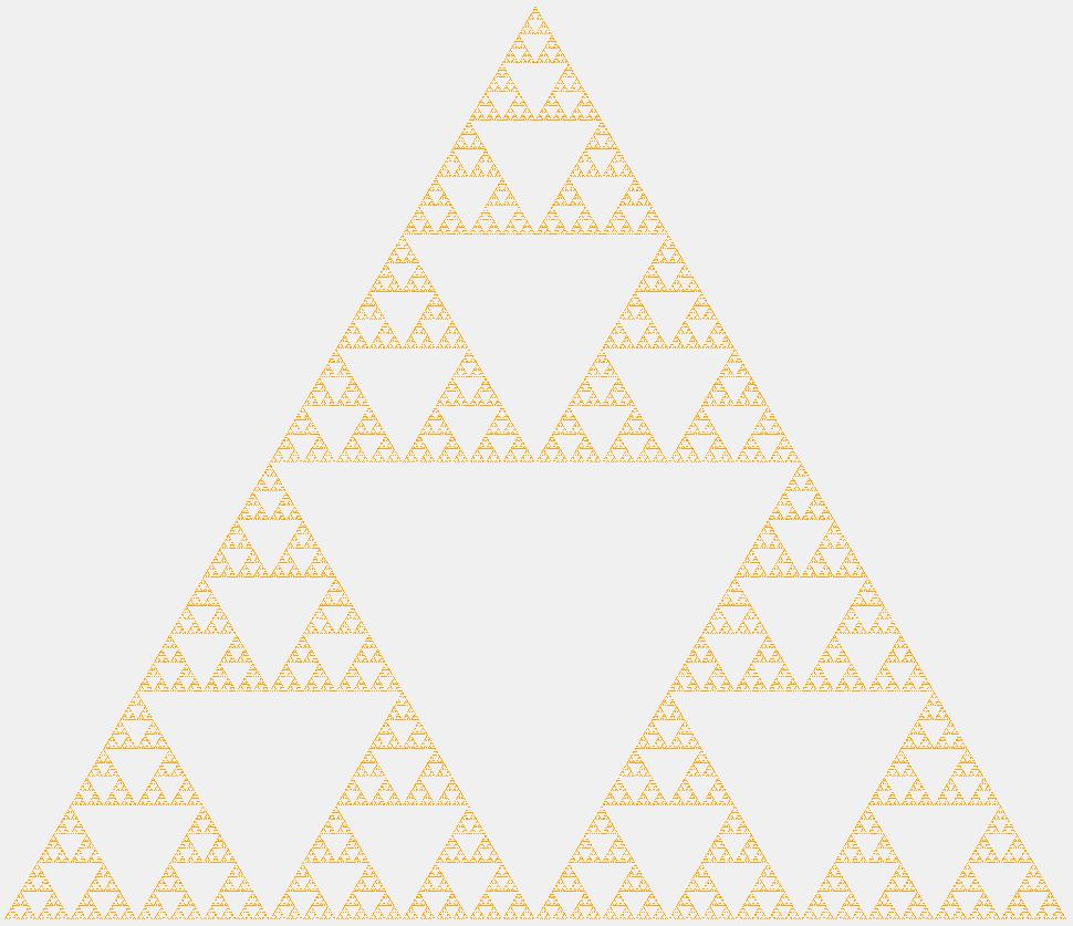 Треугольник Серпинского девятого порядка