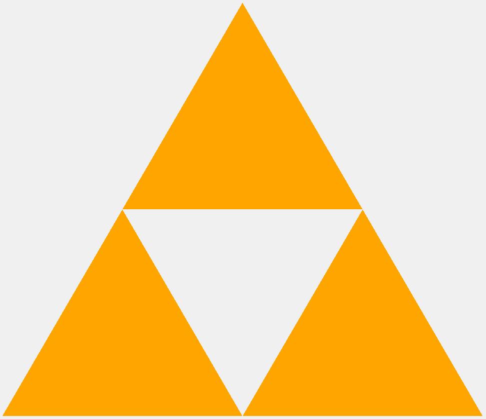 Треугольник Серпинского первого порядка