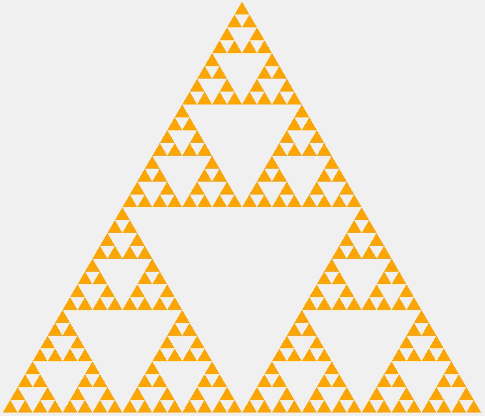 Треугольник Серпинского пятого порядка