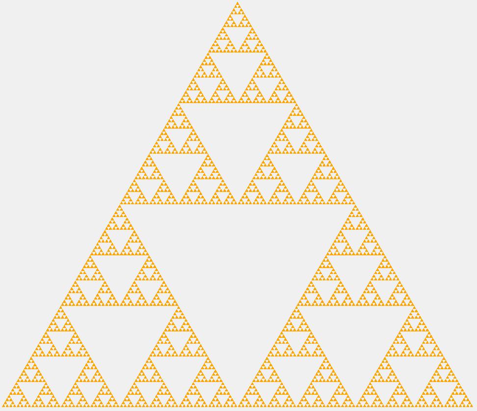 Треугольник Серпинского седьмого порядка