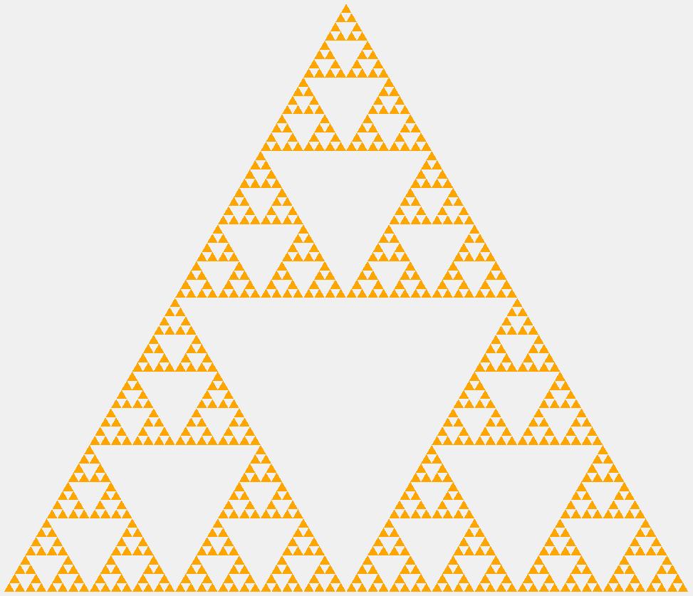 Треугольник Серпинского шестого порядка