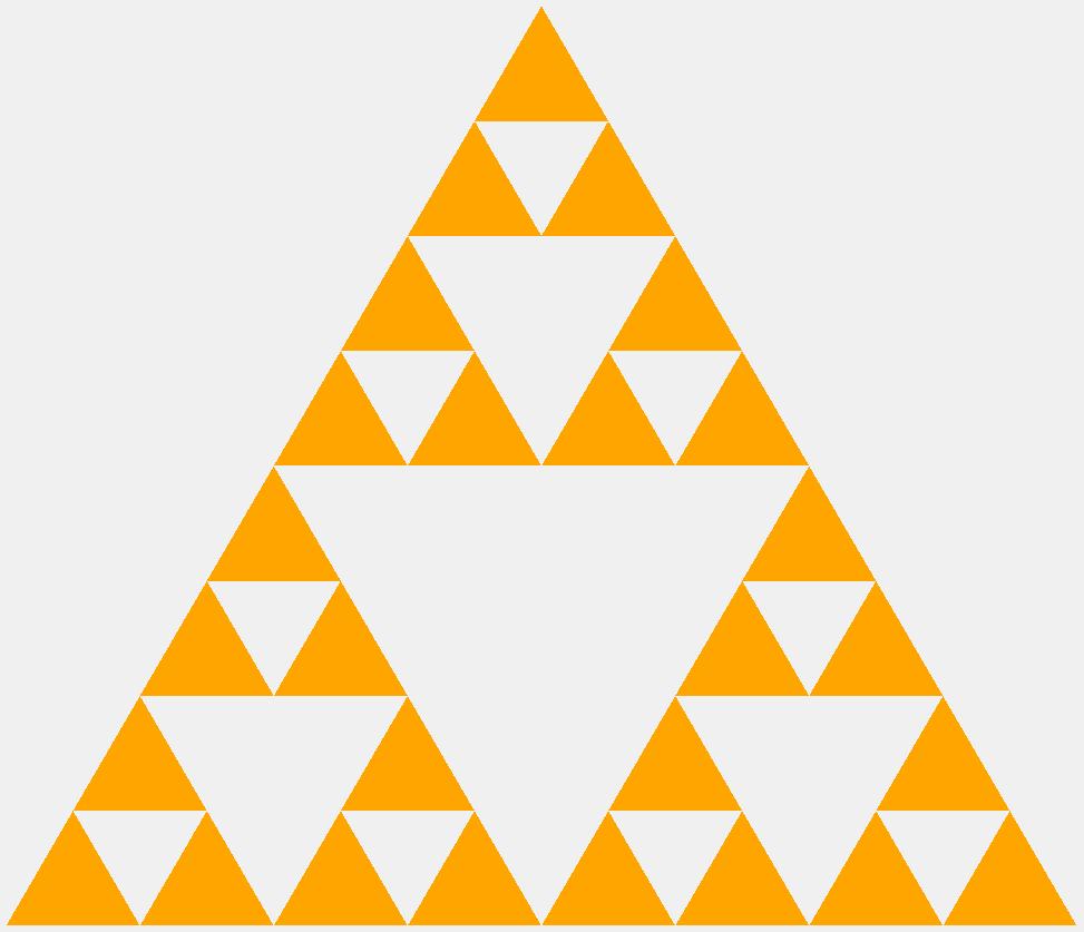 Треугольник Серпинского третьего порядка