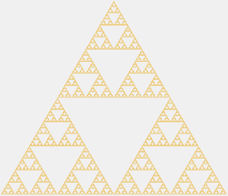 Треугольник Серпинского восьмого порядка