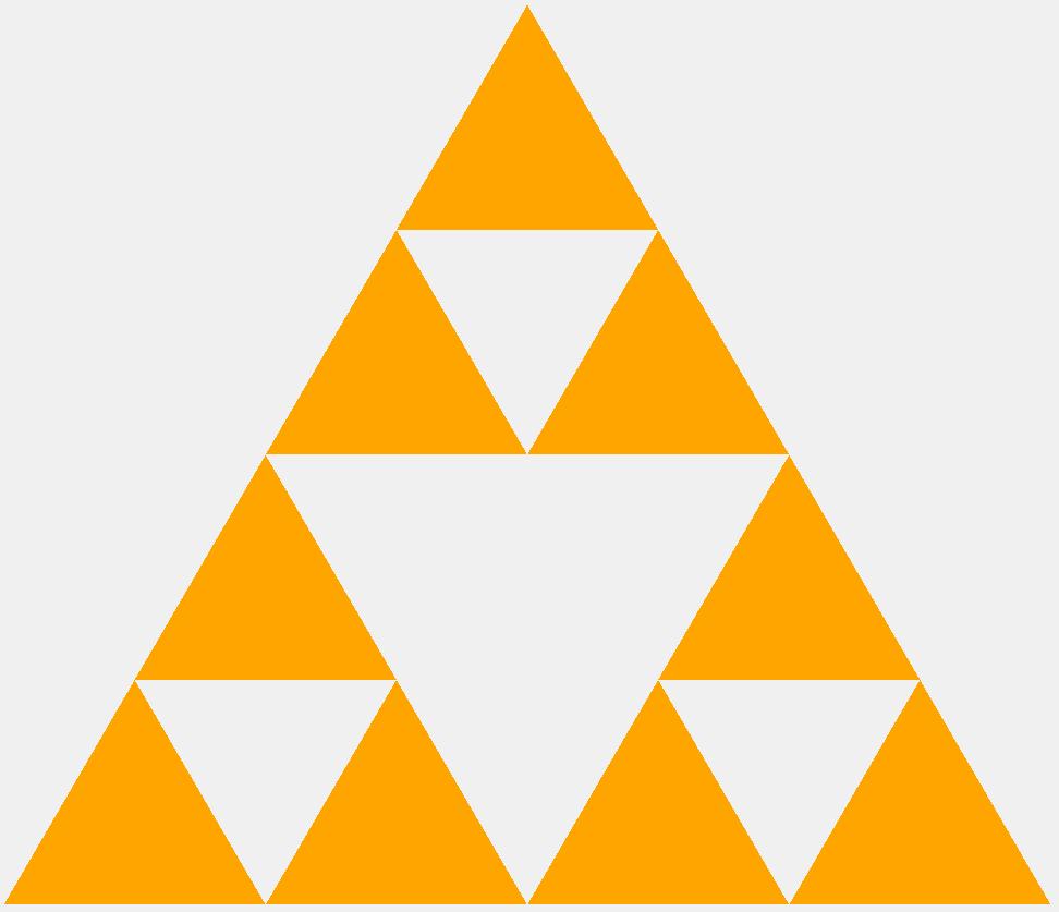 Треугольник Серпинского второго порядка