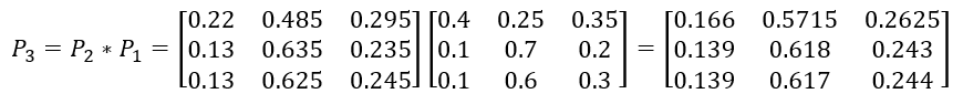 матрица состояний Марковская цепь