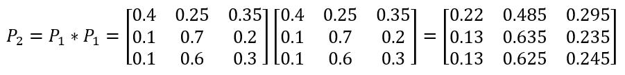 матрица состояний цепь Маркова