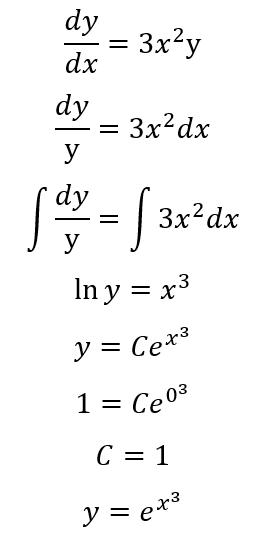 пример решение дифференциального уравнения с условием Коши