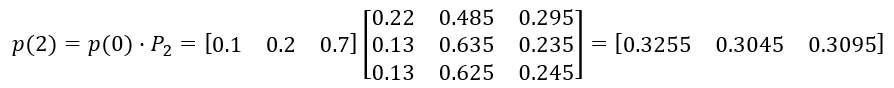 распределение вероятностей состояний решение
