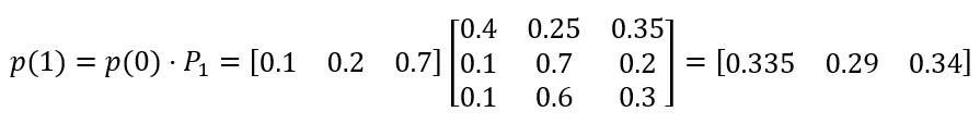 распределение вероятностей состояний