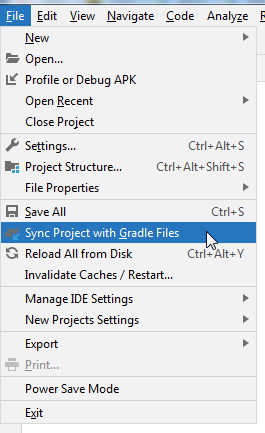 Sync Project with Gradle Files Android Studio