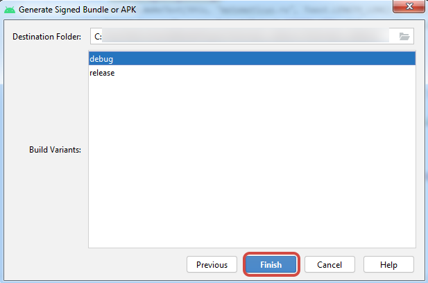 Generate Signed Bundle or APK android studio