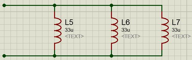 Параллельное соединение катушек индуктивности схема